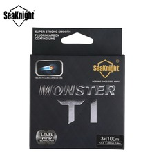 SeaKnight MONSTER T1 100% Fluorocarbon Coating Fishing Line 100M Monofilament Fishing Line Leader Line Sinking Line Carp Fishing
