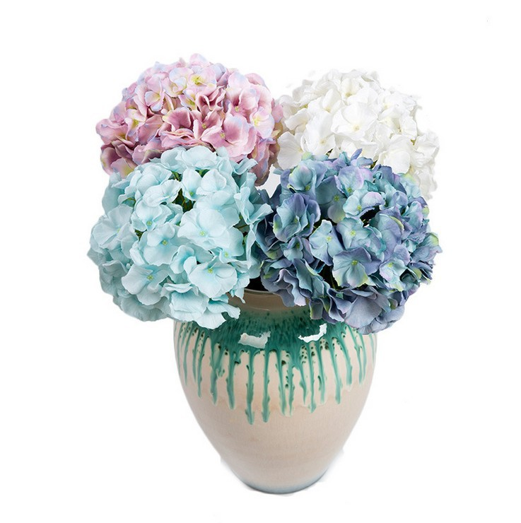 Artificial Plants Decor New Mini Fresh Silk Hydrangea Wedding/Home Decorative Flowers Bouquet - Alice Florist store