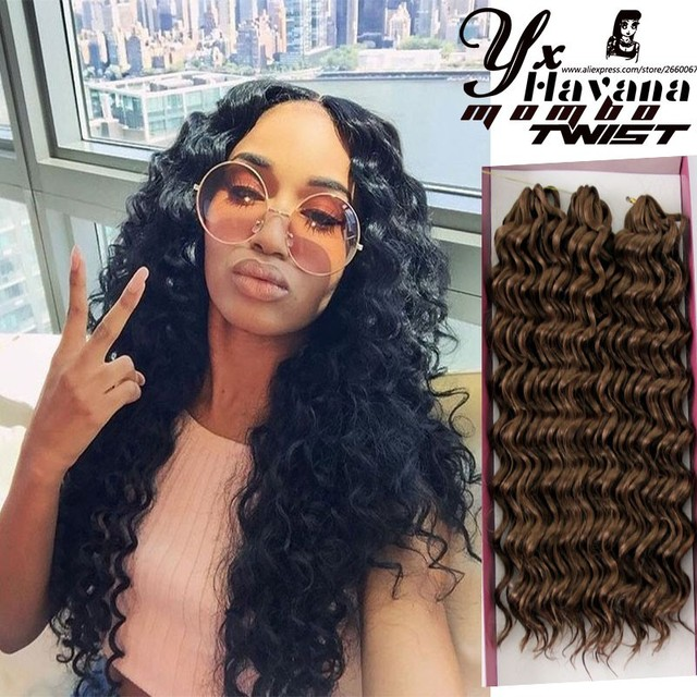 2pcslot27 New Premium Deep Wave Synthetic Hair Extension Curly