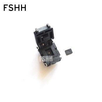 08TN13S18060-D test socket Flip test seat QFN8 DFN8 UDFN8 MLF8 WSON8 IC SOCKET Pitch=1.27mm Size=8x6mm 9acf21cd 9acf 21cd qfn8