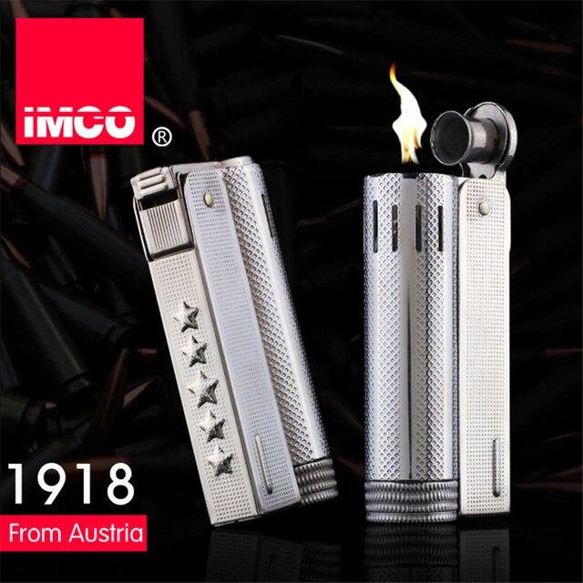 Orijinal IMCO benzin çakmak beş yıldız genel çakmak orijinal yağ benzinli sigara gaz Torch çakmak puro yangın saf bakır