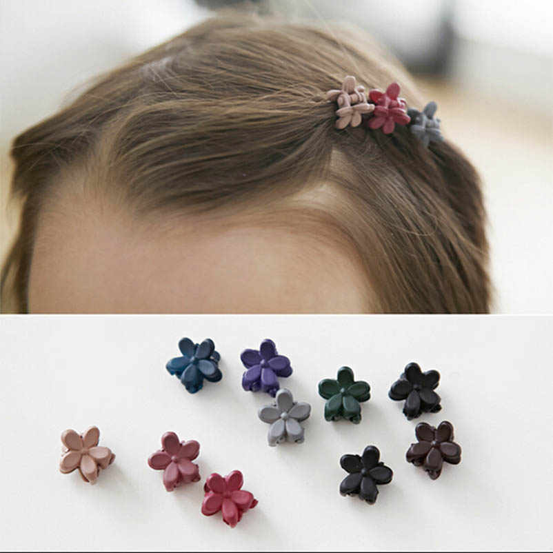 Acrylic Flower Purple Black Blue Green Red Hair Clips & Pins Headwear Hair Accessories for Women & Children
