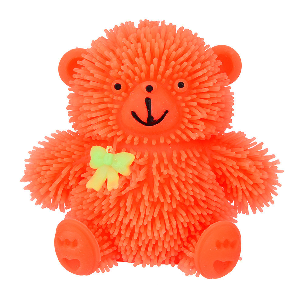 Squishies Antistress Novelty Flashing Puffer Cute Bear Squishy Stress Reliever Toys 30S8102 drop shipping