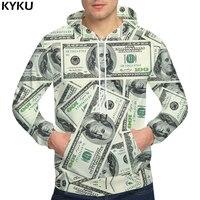KYKU Brand Dollars Hoodies Money Sweat Shirt Funny 3d Hoodies Hip Hop Hoodie Men Cool 2018