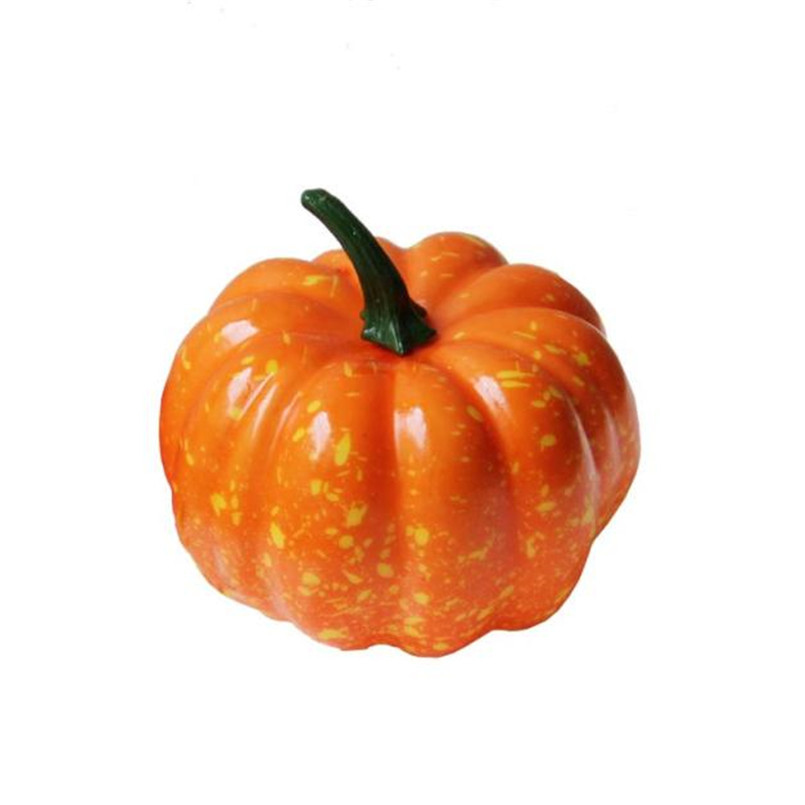 16pcs Fake Small Pumpkin Plastic Decorative Vegetables For Halloween Party Home Decoration Simulation Food barato 40JULY09(China)