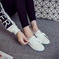 Respirável Dedo Do Pé Redondo Sapatos Mulher 2017 Nova Moda Verão Europeu Plana Sapata de Lona Feminino Tamanho 35-40