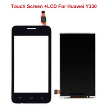 Black LCD Display Panel Screen For Huawei Ascend Y330 U00 U01+4.0″ Touch Screen Digitizer Glass Sensor Assembly Replacement