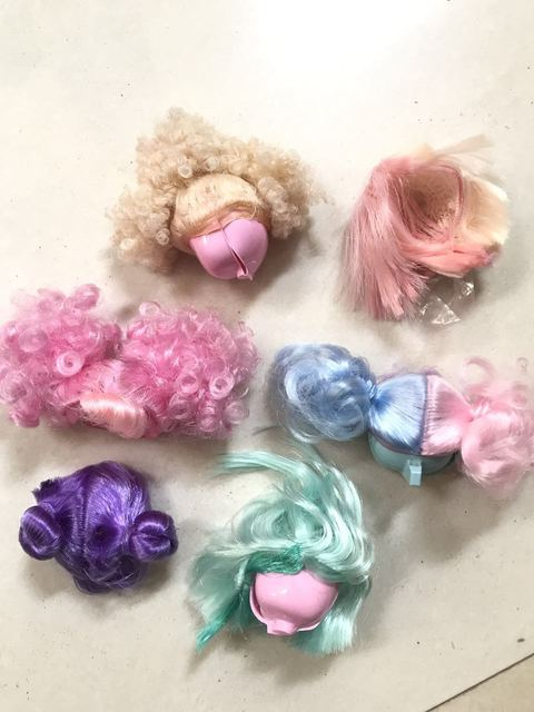5pcs Lot New Arrival Beautiful Doll Wig For Lol Dolls Sisters Baby