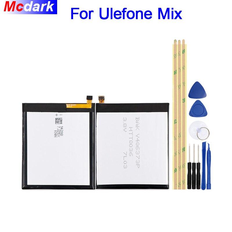 Mcdark 3300 mah Batterie Pour Ulefone MIX Batterie Bateria Accumulateur AKKU ACCU PIL Mobile Téléphone + outils