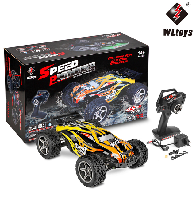 Wltoys 12404 Rc 1 12 4wd 2 4g Radio Remote Control Electric Short Truck High Sd Off Road Monster Climbing Supper Car Vehicle