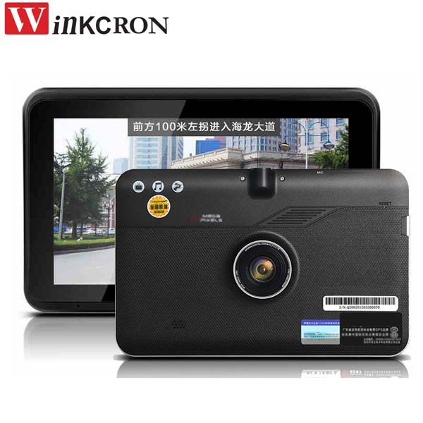 Car Dash Camera 7 inch Android GPS Navigation 16GB Disk DVR Digital Video Recorder WiFi Capacitive