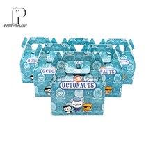 24 adet/grup şeker kutusu kek kutusu hediye kutusu çocuklar için Octonauts tema parti bebek duş parti dekorasyon parti iyilik malzemeleri