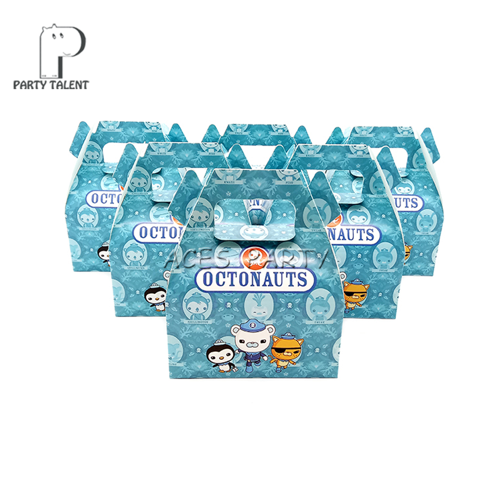 24pcs/lot Candy Box Cake Box GIft Box for Kids Octonauts Theme Party Baby Shower Party Decoration Party Favor Supplies-in Gift Bags & Wrapping Supplies from Home & Garden