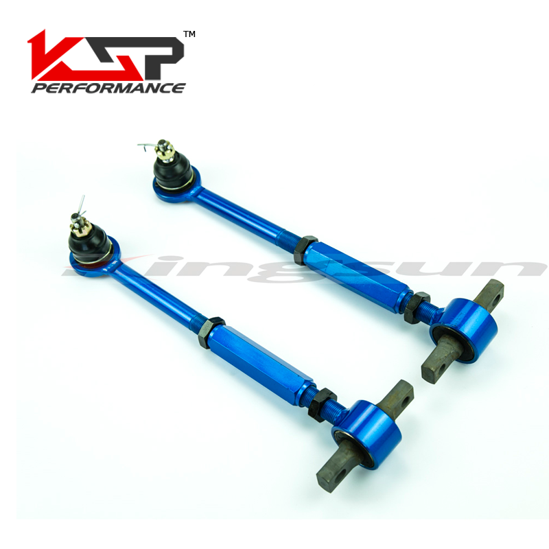 Kingsun Rear Adjustable Ball Joint  Camber Control Suspension Arm Kit For 1990-1997 Honda Accord/Acura CL TL1996-1999-Blue kingsun performa control arms lower camber kit for bmw e36 e46 1992 2005 e85 e86 2003 2008 m3 z4 rear adjustabl