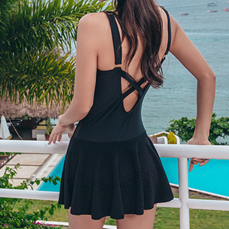 Black White Push Up One Piece Swimsuit Women Dress Lace Swimwear Female Bodysuit Women's Swimsuits Bathing Suit Beachwear Skirt tequila por favor letter custom swimsuit one piece swimwear bathing suit women sexy bodysuit funny swimsuits jumpsuits rompers