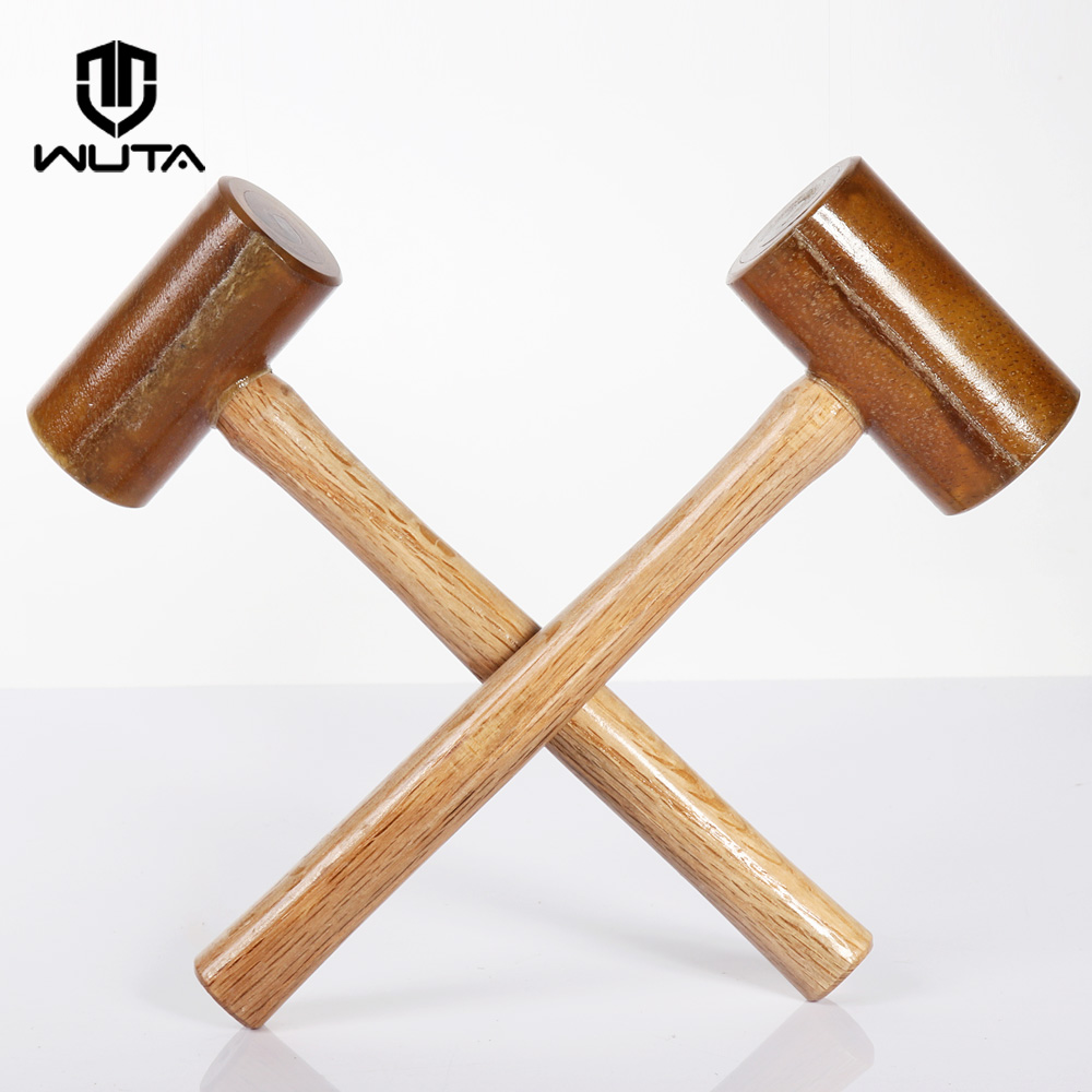 WUTA Rawhide-head Mallet Leather Hammer Stamping Jewelry Leather Worker Craft Tool Good Buffering Capacity 1-7/8
