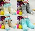 6 par/lote bebé 0-3 años de algodón calcetines walk antideslizante calcetín infantil grueso invierno cálido desgaste recién nacido del niño calcetines