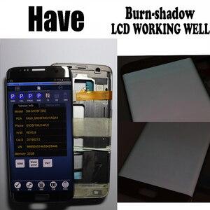 Image 2 - HotSale 5.5 yanık gölge samsung Lcd Galaxy S7 kenar Lcd ekran G935F G935FD Lcd ekran ücretsiz hediye ile S7Edge pil kapak