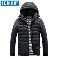 IEMUH Marca Plus Size L-4XL 5XL Giù Gli Uomini Giacca Autunno Inverno Cappotto caldo Spessore degli uomini Più Il Formato Piumino Maschile Antivento Parka