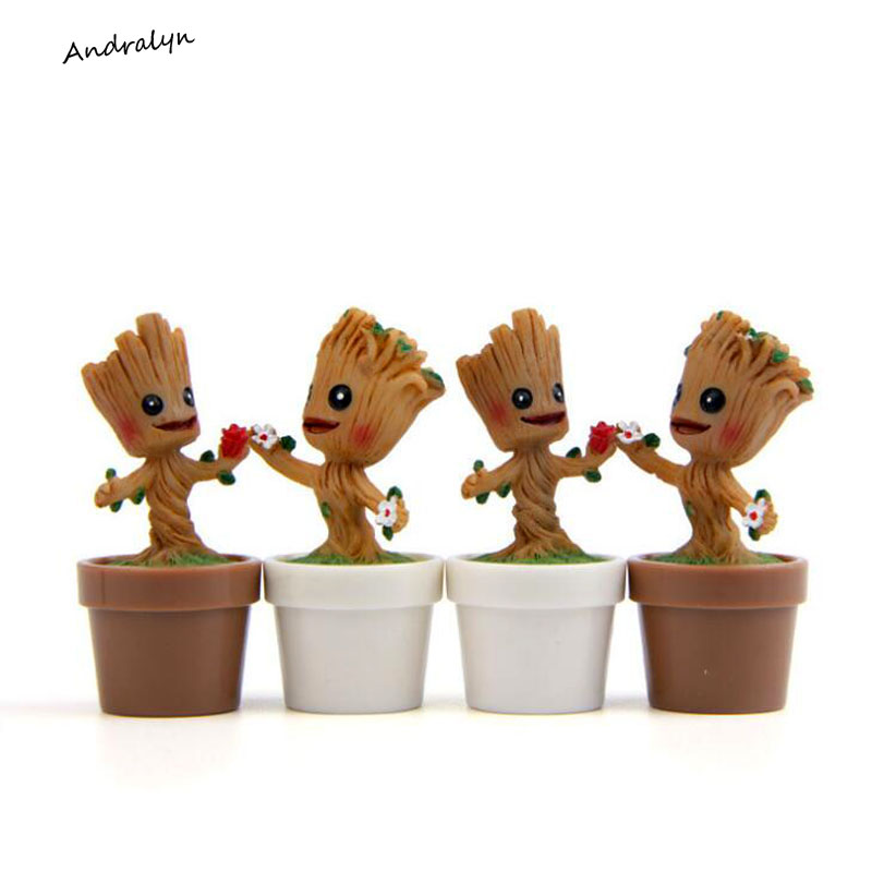 In Stock Brinquedos Guardians Of The Galaxy Mini Cute Model Action And Toy Figures Cartoon Movies And TV 2016 new arrival the guardians galaxy mini dancing tree man action figure model toy doll
