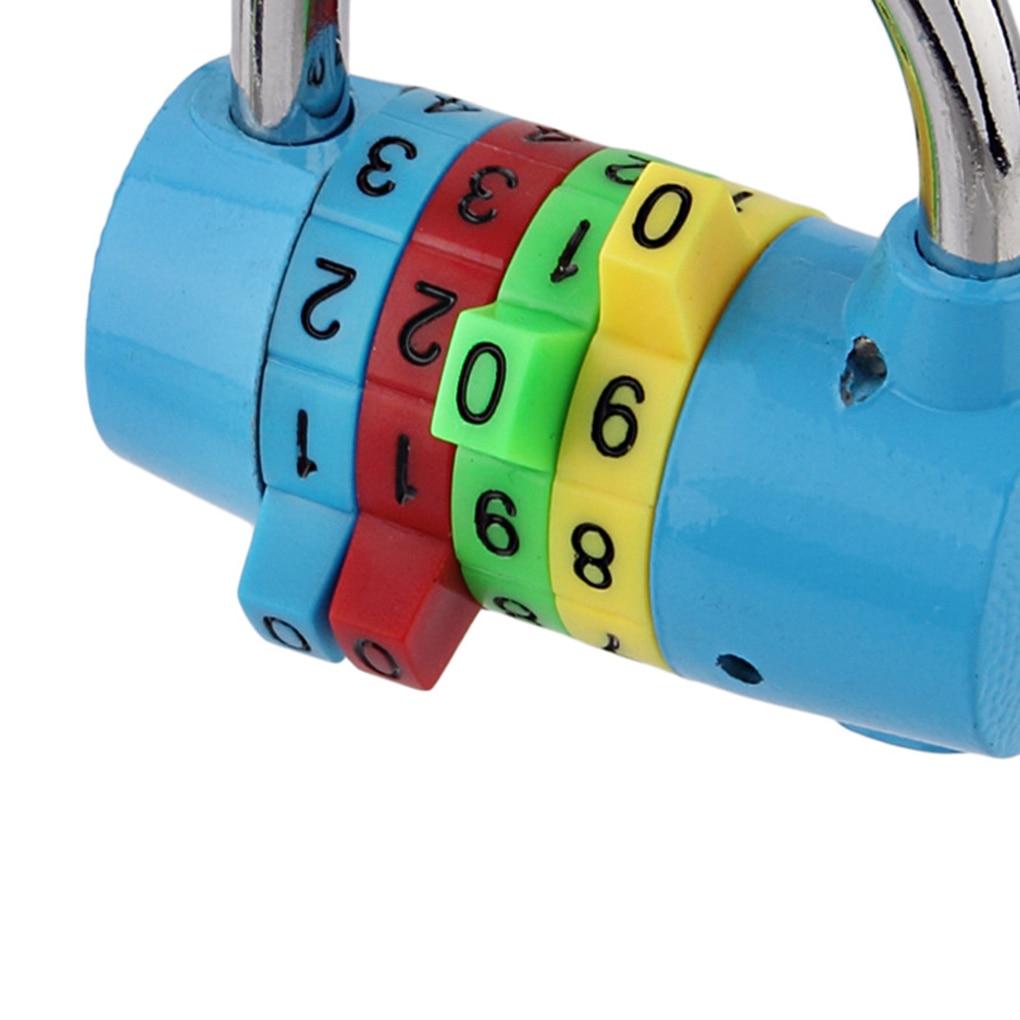 купить 4 Digits File Cabinet Drawer Password Code Lock Padlock For Door Dormitory Gym Club Random Color по цене 301.23 рублей