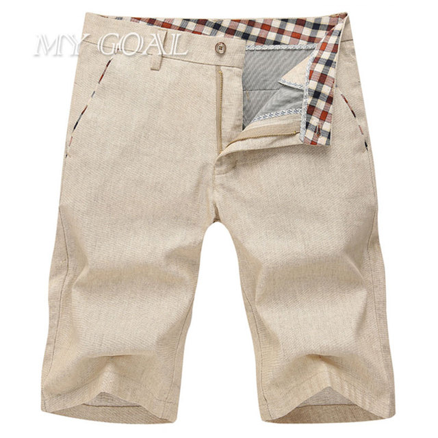 c31edd041f4f Summer Leisure Mens Short Pants Casual Shorts for Men Natural Linen  Trousers 2 colors