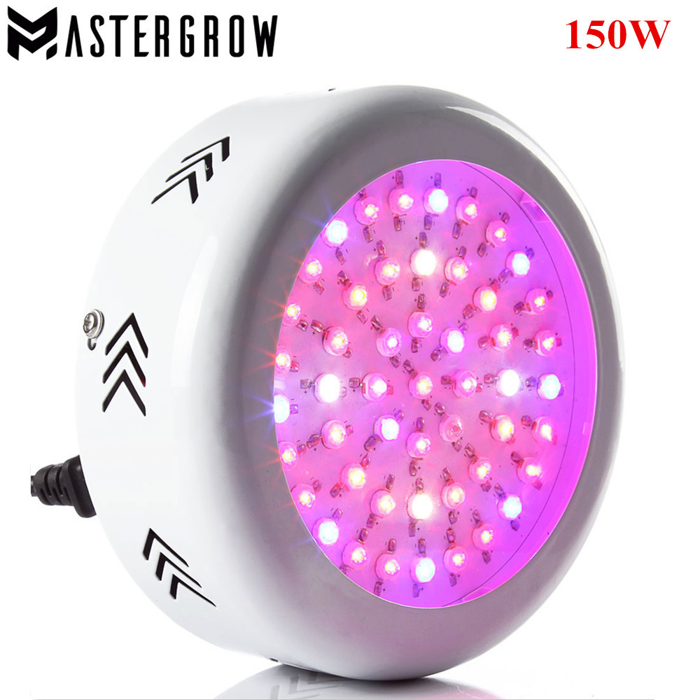 US $54 51 21% OFF|MasterGrow UFO 150W Full Spectrum LED Grow light LED Lamp  UV IR Grow Tent Lighting For Flowering Plant and Hydroponics Grow box-in