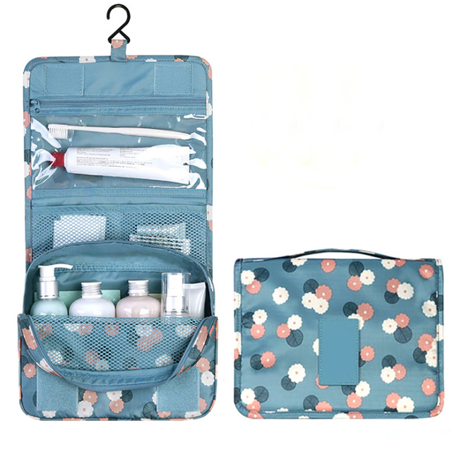 Portable Women Travel Cosmetic Bag Hanging Makeup Organizer Bags Make Up Woman Toiletry Case