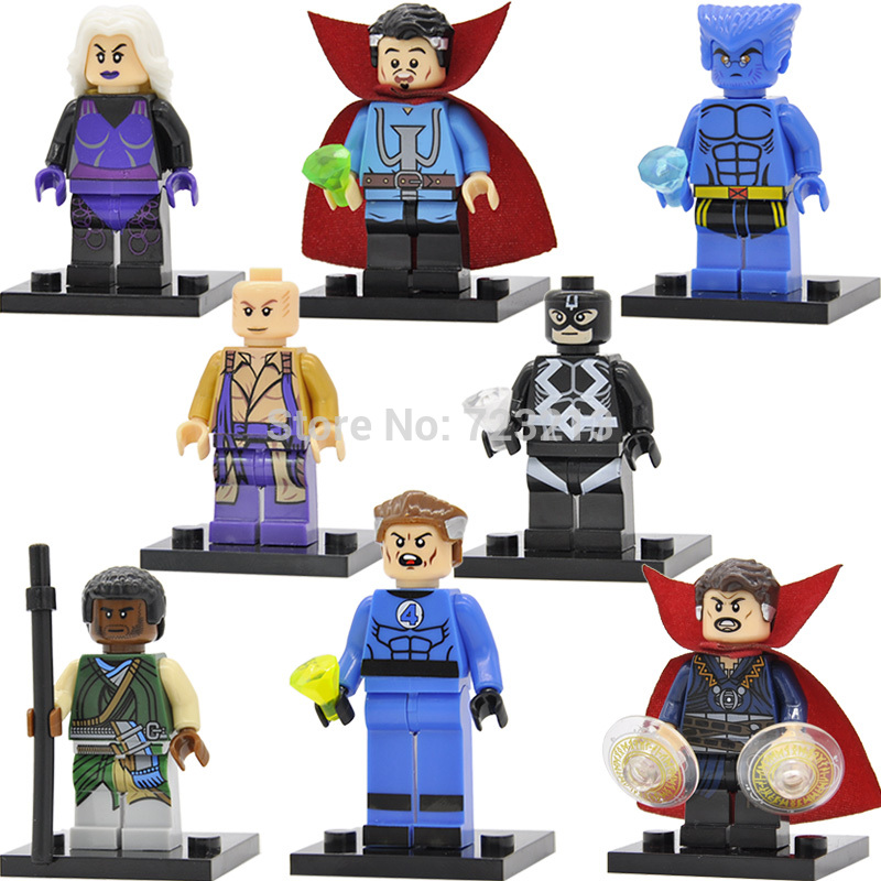 Single Sale Marvel Doctor Strange Figure Beast Black bolt Clea Mr Fantastic Baron Mordo Karl Building Blocks Super Hero Toys