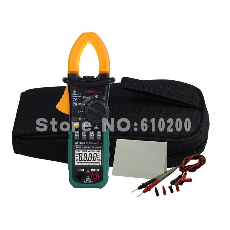 цена  AIMO MS2018A Auto Range Digital Clamp Meter Multimeter AC DC Current Voltage Hz Frequency Capacitance Tester VS MS2108A  онлайн в 2017 году