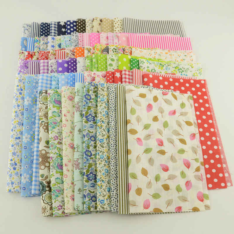 Booksew Cotton Fabric Flowers printed Tilda Telas Patchwork Sewing Algodon Tissue Craft 10cmx12cm 50pieces/lot Stoffen Tecido