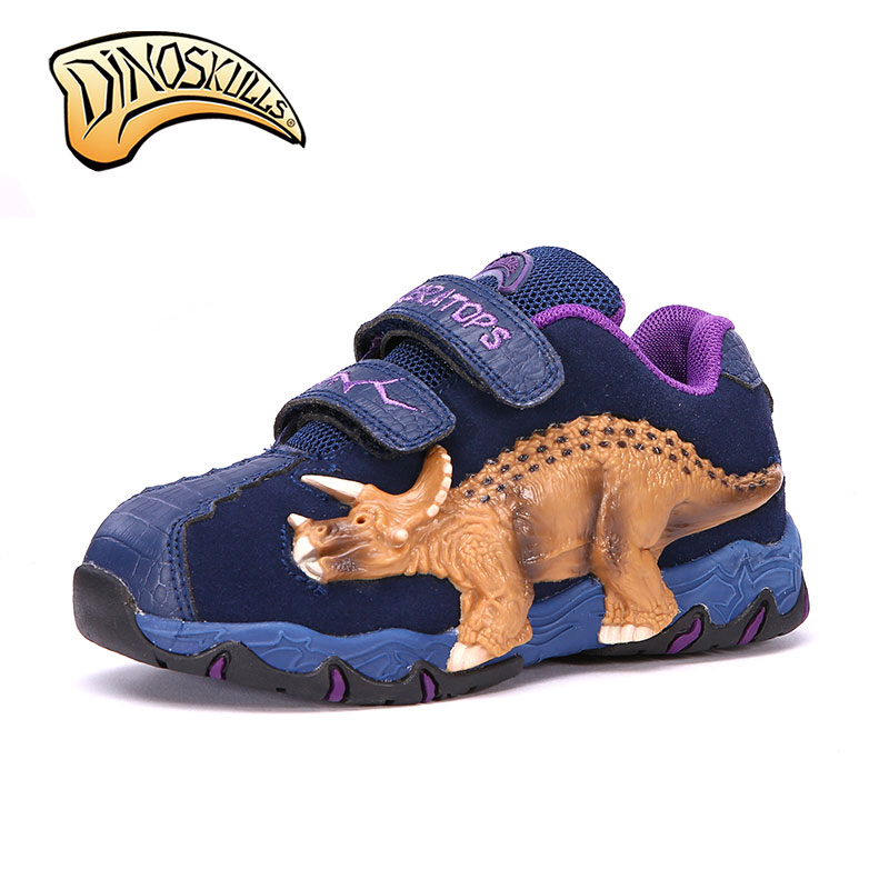 Children Shoes Kids Boys Shoes Casual Kids Flat with Sneakers Leather 3D Dinosaur flashing lights Fashion Children Boy Autumn 2016 new shoes for children breathable children boy shoes casual running kids sneakers mesh boys sport shoes kids sneakers