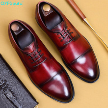 QYFCIOUFU 2019 New High Quality Mens Dress Shoes Genuine Leather Business Formal Male Adult Oxfords Footwear US 11.5
