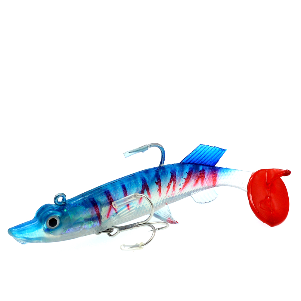 WLDSLURE 1Pc 27g 12cm Soft Lead Fish Sea Fishing Lures Soft Bait Artificial Bait Jig Wobblers Rubber Silicon Bass Lure in Fishing Lures from Sports Entertainment