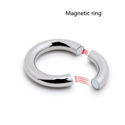 5 size for choose Heavy Duty male Magnetic Ball Scrotum Stretcher metal penis cock lock Ring Delay ejaculation BDSM Sex Toy men