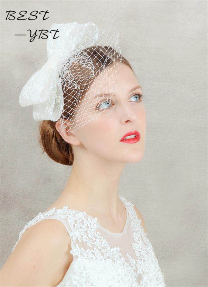Bow hair hair clip cage veil headdress Wedding Hat headdress and ...