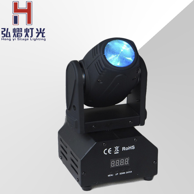 (1 pieces/lot) moving head led spot 10W LED beam light disco dj DMX512 rgbw professional stage beam led effect projector