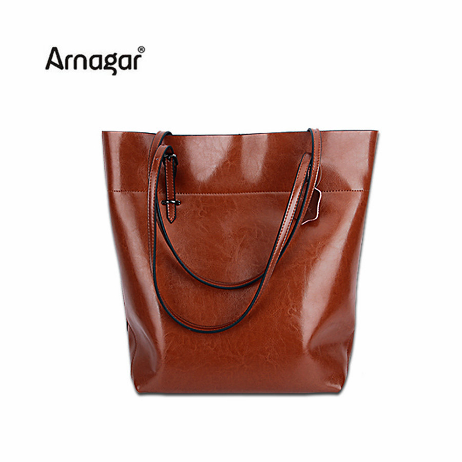 Arnagar genuine leather bag handbags women famous brands shoulder bags  vintage lady tote bag sac a main high quality bucket bag 7a23b728059ae