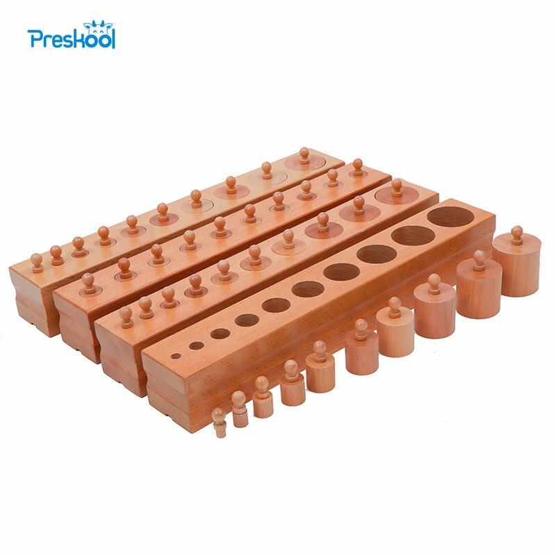 Brinquedo do bebê montessori cilindro blocos sensorial pré-escolar formação educação infantil precoce brinquedos juguetes