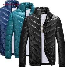 MANTLCONX 2019 Warm Outwear Winter Jacket Men Windproof Thick Men Jacket Warm Men Parkas Padded  Winter Coat Men Solid Parka