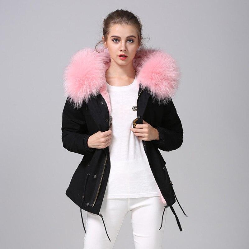 Лидер продаж натуральным мехом парки Mujer 2018 новые парки зимние Для женщин куртка Regular пальто натуральный мех одноцветное куртка с капюшоном