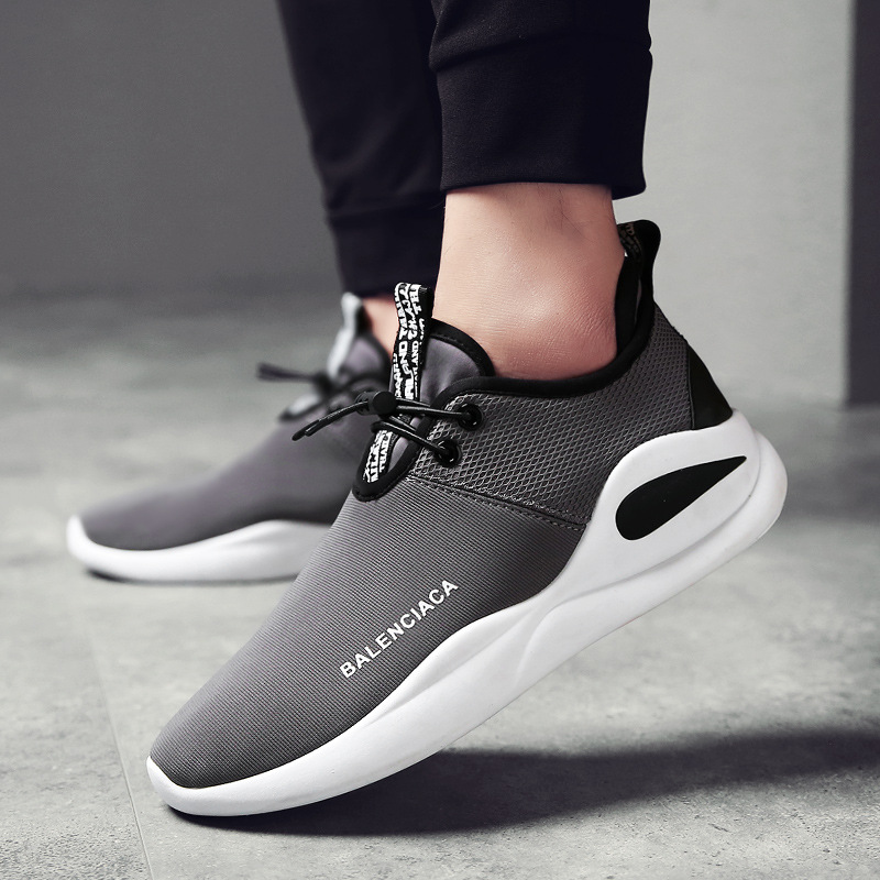 Fashion Sneakers Men Casual Shoes Breathable Air Mesh Mans Footwear Male Shoes Summer Hard-Wearing Solid Oxford Sneakers AET641 ...