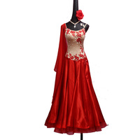 Sexy Modern Dance Dresses for Ladies Red Professional Dress Indian Women Feminine Latino Ballroom Competitive Costumes B203