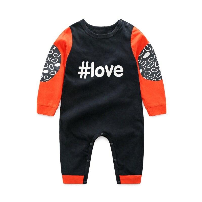2018 недавно Одежда для маленьких мальчиков и девочек для новорожденных комбинезон с длинными рукавами для малышей Детская Одежда 0-24 м