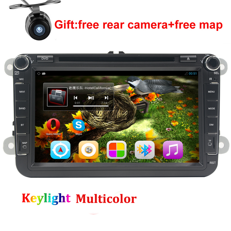 8 Quad core Android 7.1 Car DVD for Skoda Fabia Rapid Roomster Yeti Octavia Superb gps radio head unit car stereo free camera