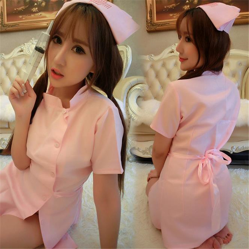 Halloween nightclub pink sexy nurse skirt stage dress character suit suit