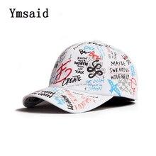 Adult Graffiti Letter Ribbon White Black Flat Baseball Cap Cotton Casual Hat Hip Hop Snapback Cap Wholesale Retail Free Delivery