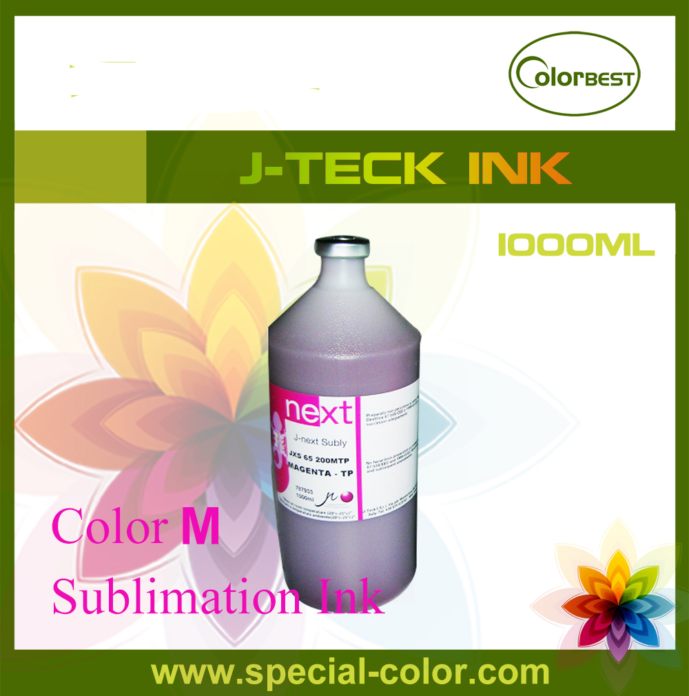 Waterbased Color M Sublimation Ink J-Teck 1000ml for Epson DX4/DX5/DX7 6colors set for dx4 dx5 sublimation ink 1000ml for roland mimaki mutoh china printer alpha infinite wit color