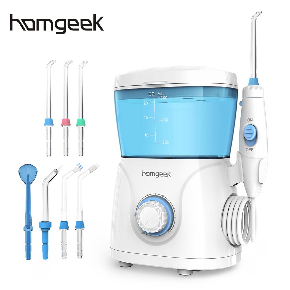Homgeek воды Flosser irrigador ирригатор для полости рта очиститель зубов палочки Спа Уход за зубами чистый с 7 советов для семьи