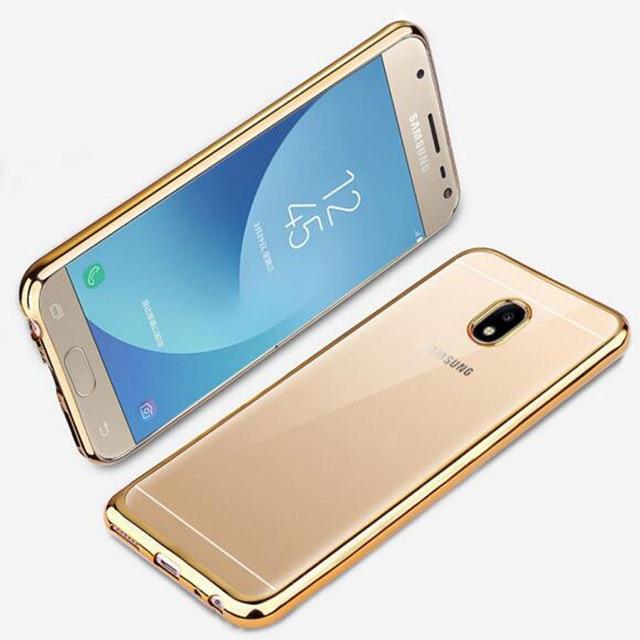 Ultra Mince Placage Or Rose Cristal Cas Clair Pour Samsung Galaxy J3 2017 J330F DS